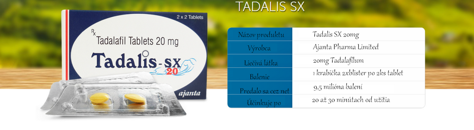 Tadalis SX 20mg tablety